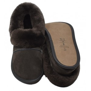 Sheepskin Slippers Garneau Brown