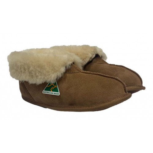 Ladies soft sole sheepskin slippers
