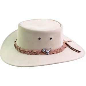 Kangaroo Leather Packer Hat - Sand