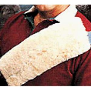 Sheepskin seatbelt cover