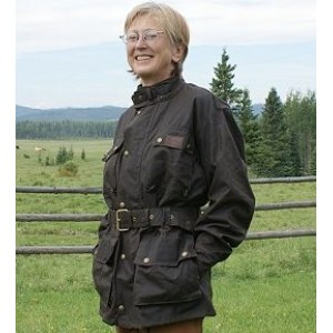 The Townsville oilskin jacket for ladies