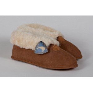 Ladies soft sole sheepskin slippers