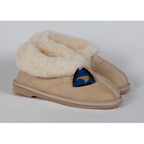 Ladies non-slip sole sheepskin slipper