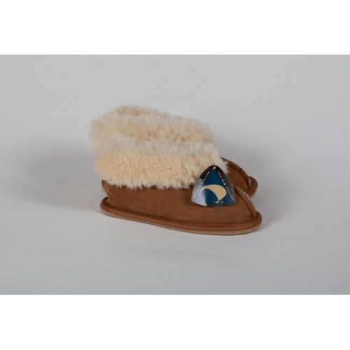 Children's Unisex Hard sole Slipper - Chestnut